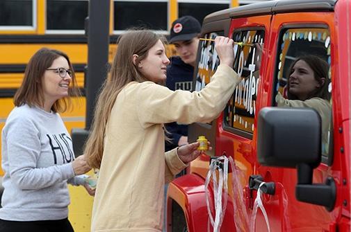 Open Schools Car Rally Decorate